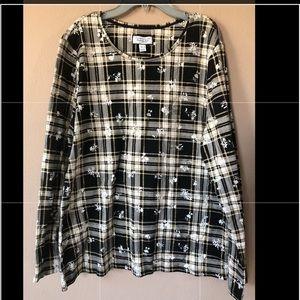 NWT Women's Charter Club Plaid top blouse